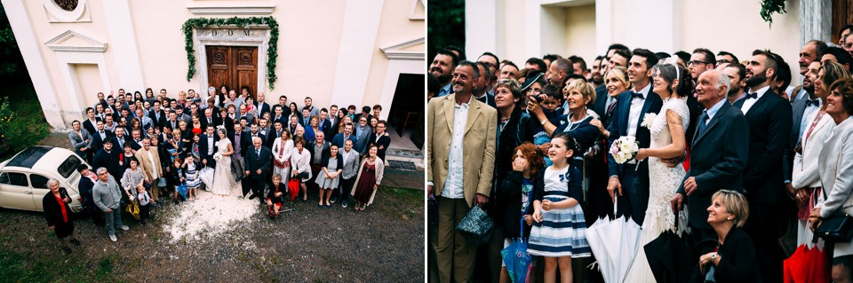 foto di gruppo matrimonio cuneo