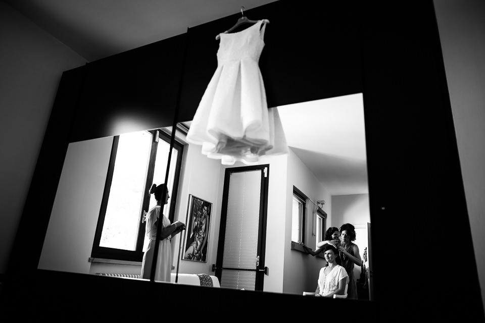 abito corto bianco da sposa dernier cri