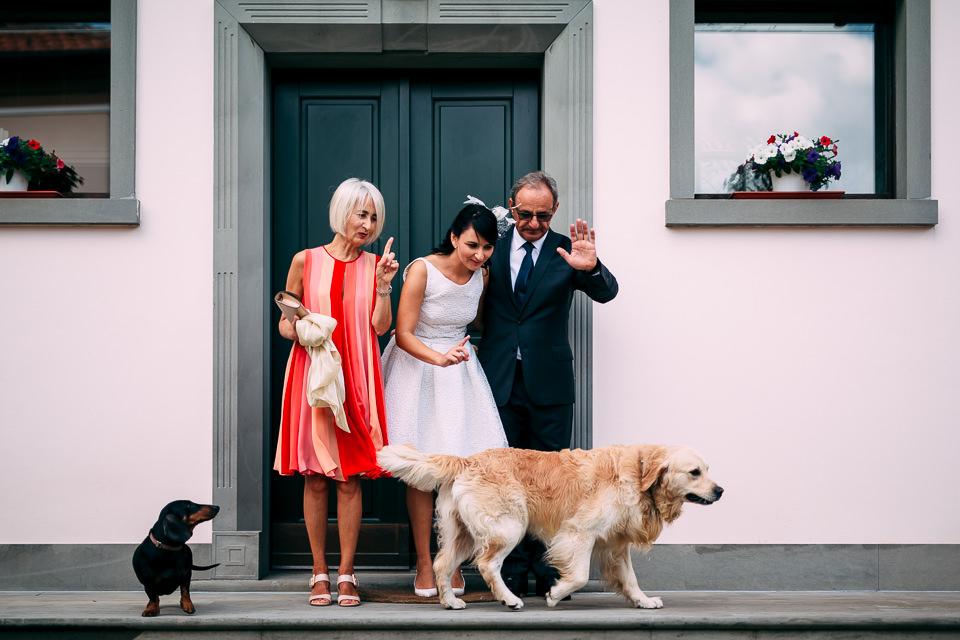 foto di gruppo famigliare prima del matrimonio