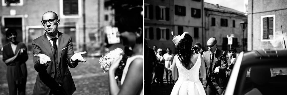 sposo si complimenta con la sposa
