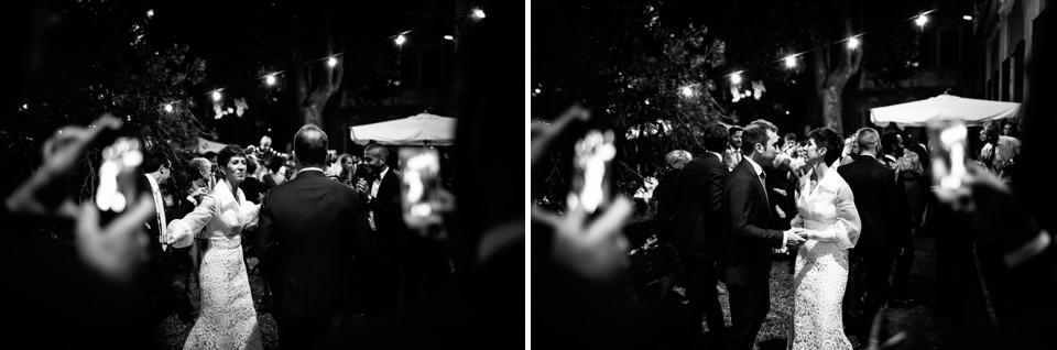 festa di matrimonio serale all'aperto in villa faraggiana