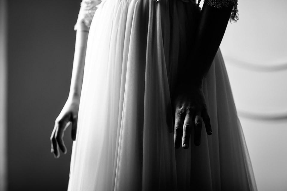 elegante abito bianco da sposa