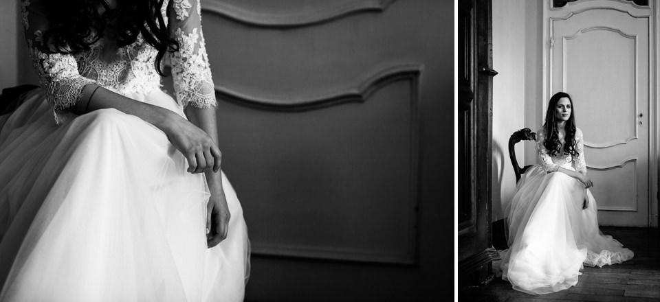 elegantissimo abito bianco da sposa Ela Siromascenko
