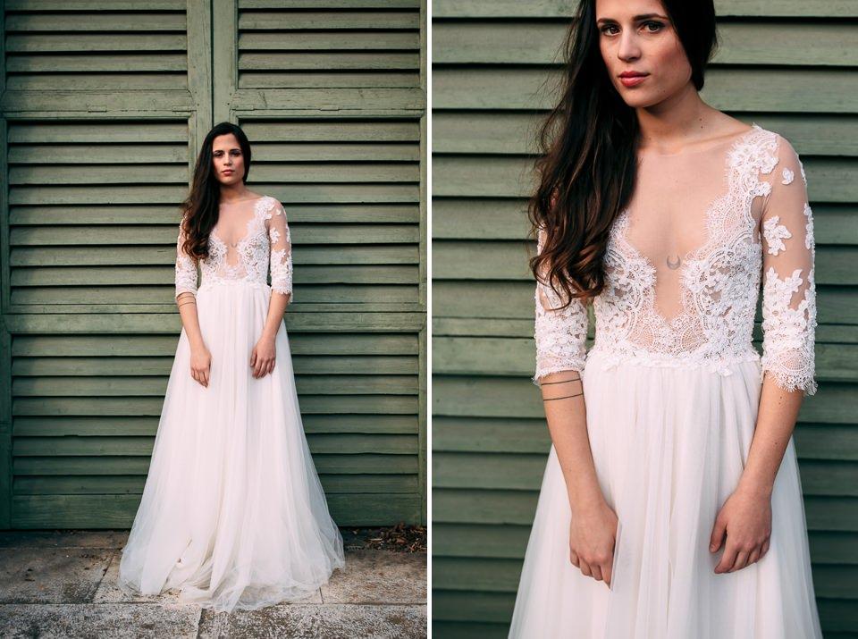 elegant bride in a white dress in the Monferrato