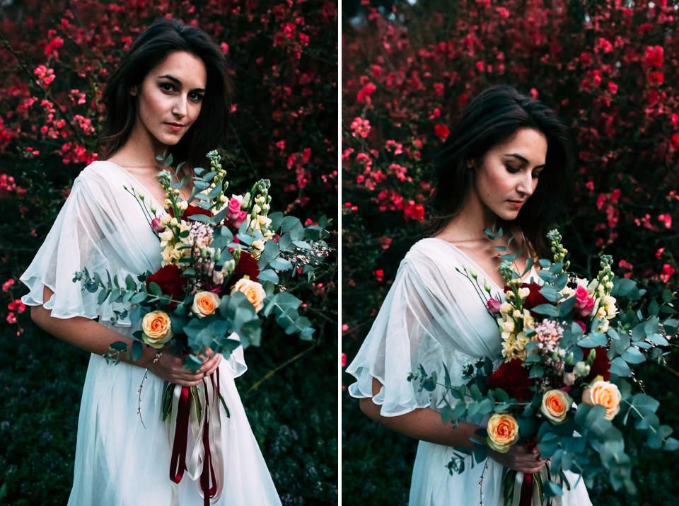 bouquet per un matrimonio autunnale nel monferrato