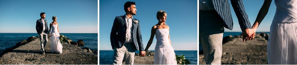 eleganti sposi in stile mediterraneo