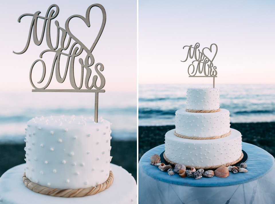 cake topper wedding on the sea