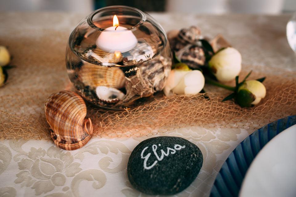 candele profumate matrimonio al mare