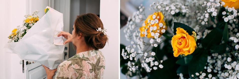 rose gialle e bianche matrimonio a positano, costiera amalfitana