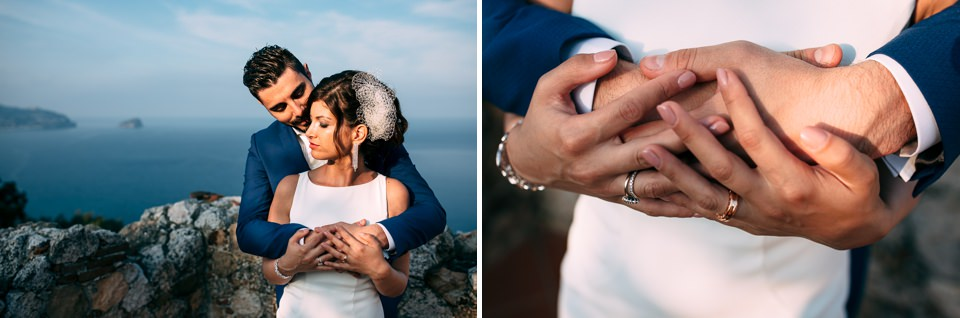mediterranean wedding on the sea