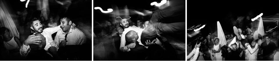 amici lanciano lo sposo al paradiso di manu