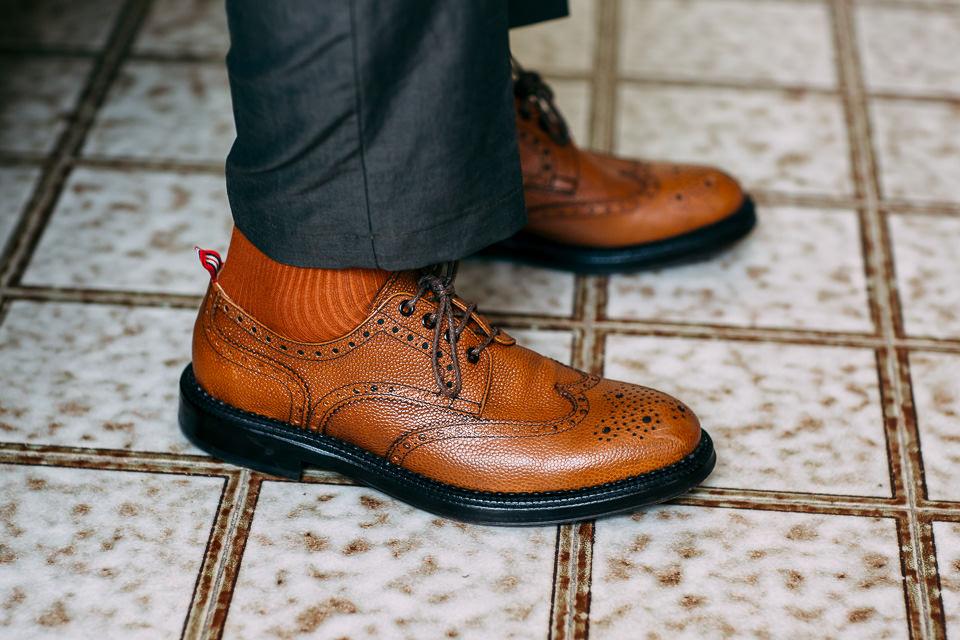 scarpe da sposo color cuoio