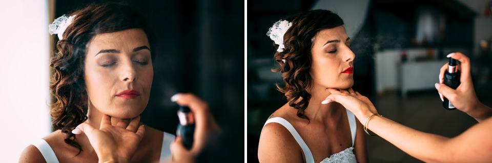 sposa con capelli raccolti