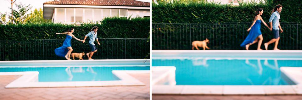 guys run around the edge of the pool