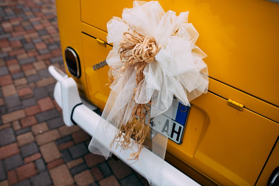 volswagen giallo matrimonio
