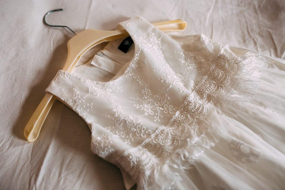 abito bianco da bambina per matrimonio