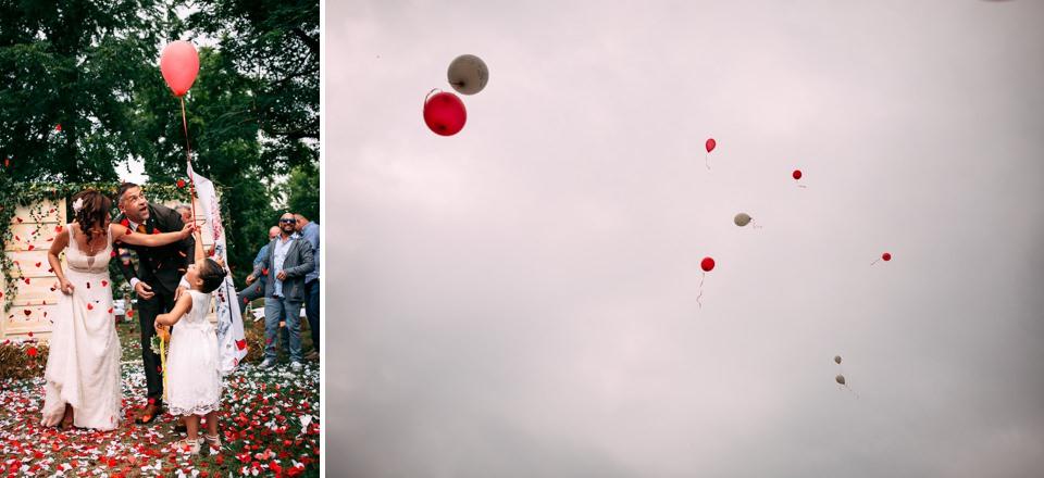 matrimonio palloncini rossi