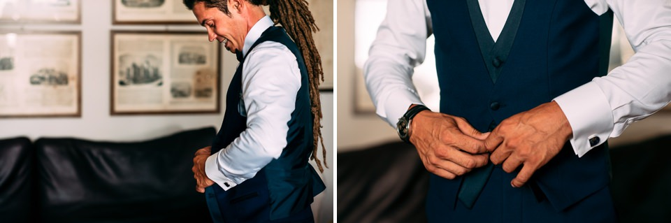 groom with dreadlocks