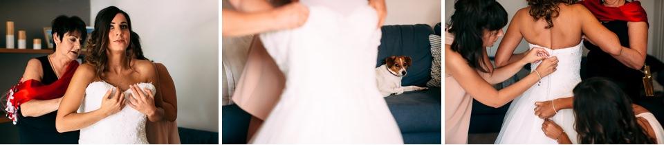 vestizione sposa prima del matrimonio