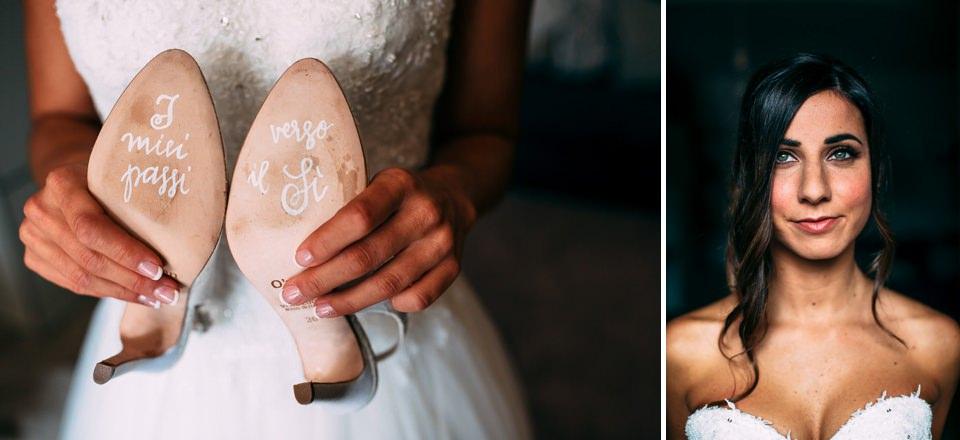 scarpe bianche da sposa per matrimonio