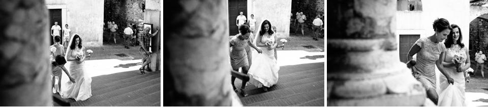 sposa irlandese in abito bianco