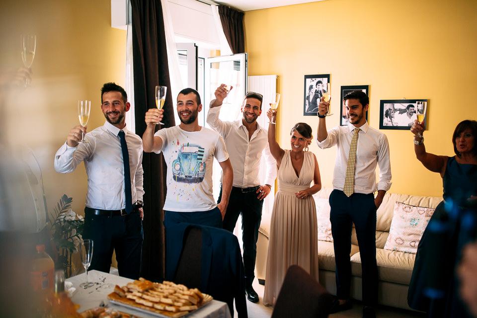 brindisi a casa dello sposo