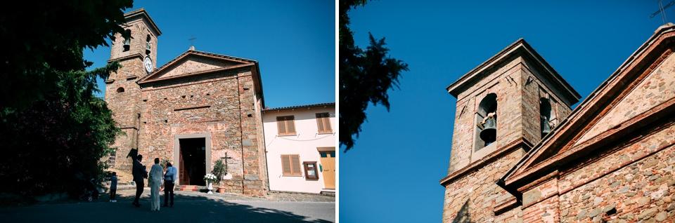 Tuscany wedding, church ceremony