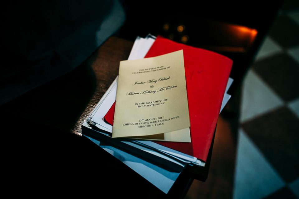 libretto della messa matrimonio sirmione