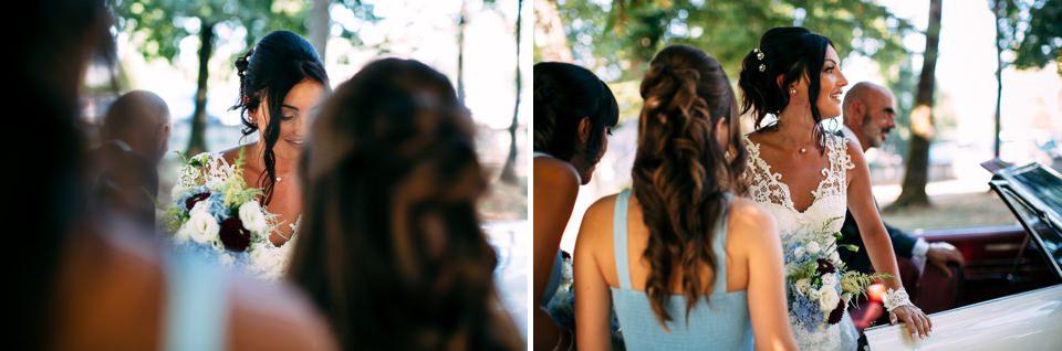 cerimonia nuziale all'aperto a villa Scati