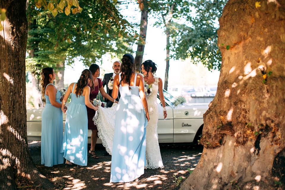 arrivo in location della sposa