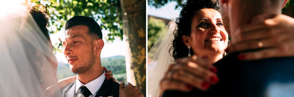 newlyweds in Tuscany
