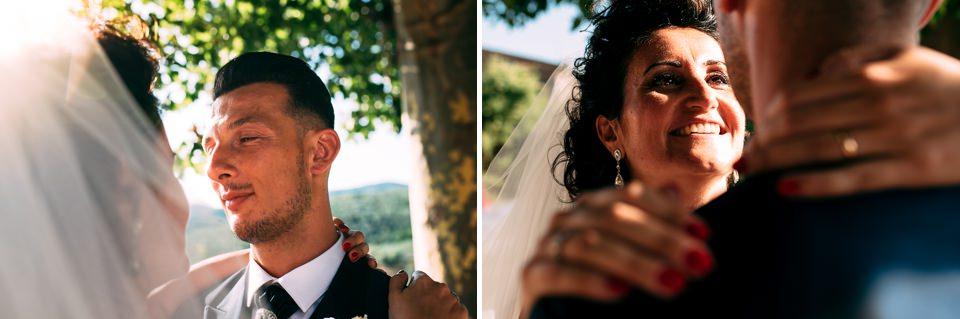 newlyweds in Tuscany