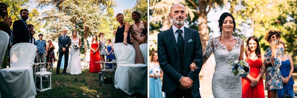 elegante cerimonio nel parco di villa Scati