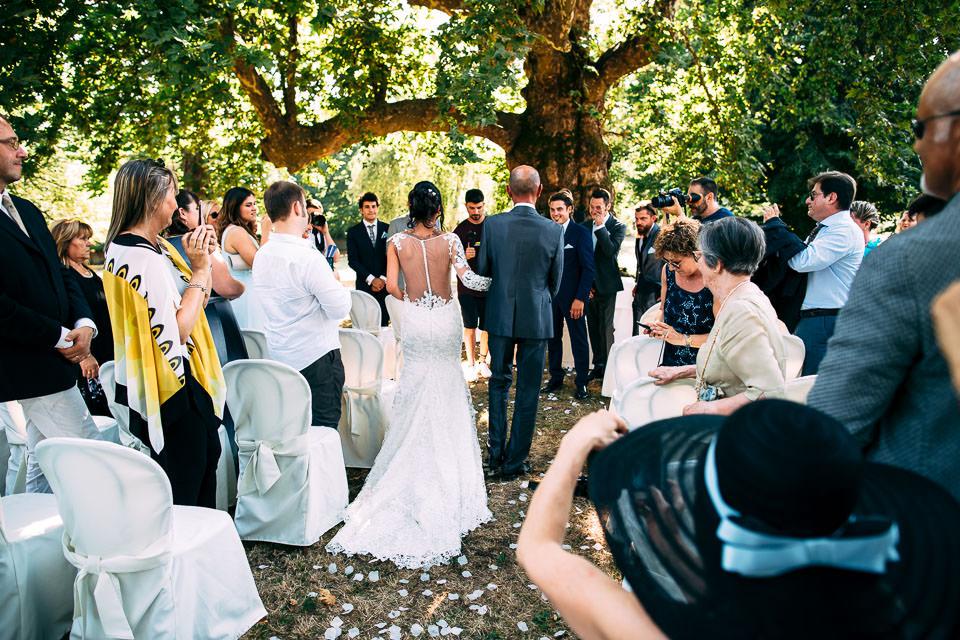 cerimonia sotto il platano in villa Scati acqui terme