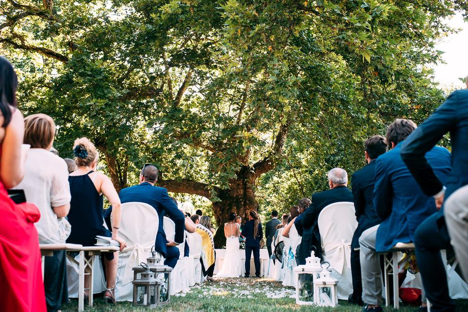 matrimonio all'aperto nel parco di villa Scati acqui terme