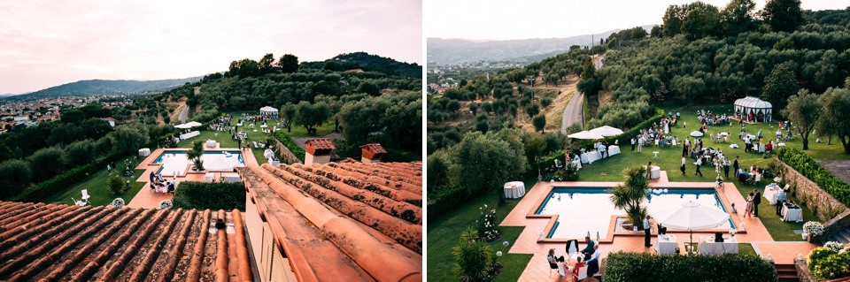 panoramica sulla location per matrimonio il poggetto resort di pistoia