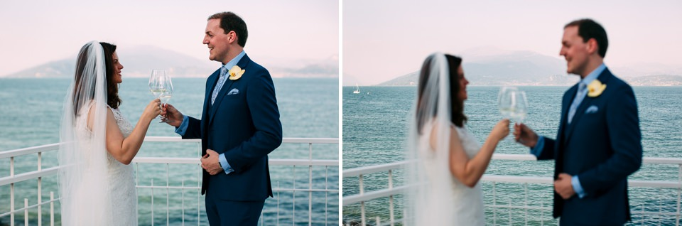 Irish newlyweds toast to sirmione with a view of Lake Garda