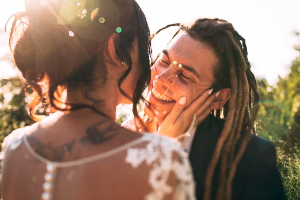 coppia alternativa di sposi