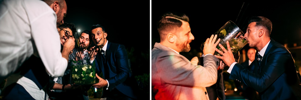 sposo beve un mojito al poggetto resort, Tuscany location