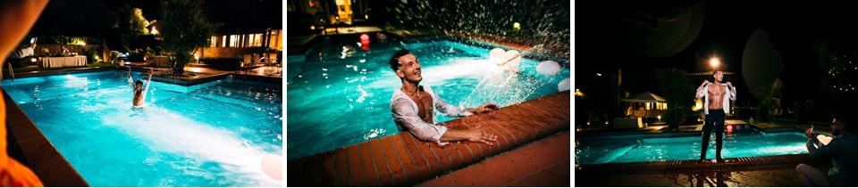 la piscina del poggetto resort, location specializzata in matrimoni di lusso