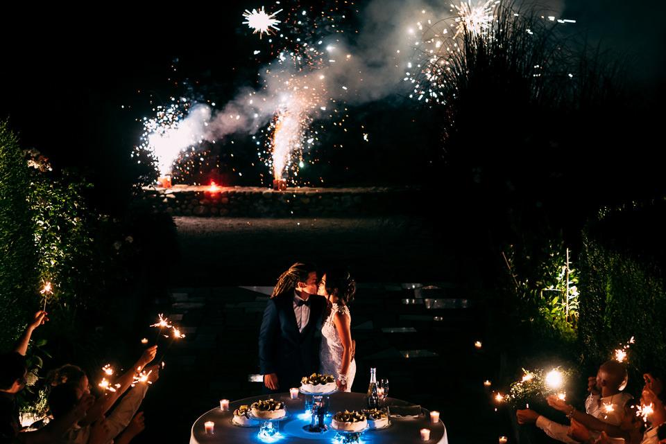 fuochi d'artificio matrimonio villa scati