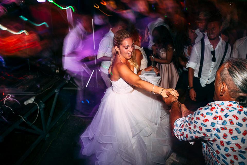 scatenata festa di matrimonio