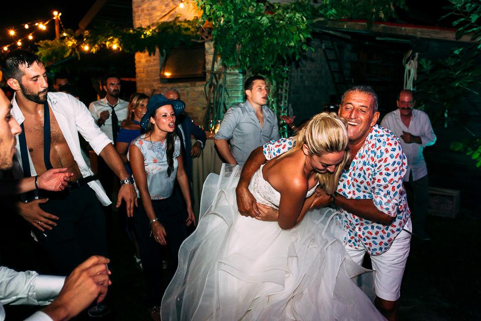 festa scatenata di matrimonio