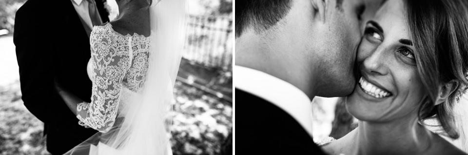 ritratti di coppia di bellissimi sposi