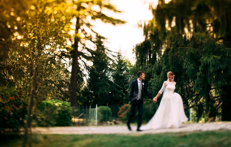 elegante coppia di sposi ad alessandria