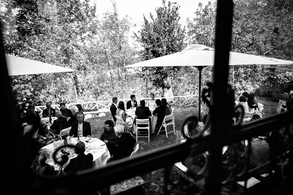 pranzo di matrimonio all'aperto
