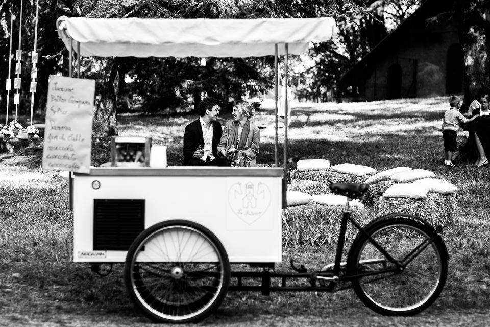carretto dei gelati al matrimonio
