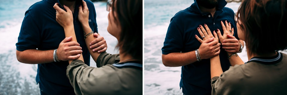 servizio fotografico di coppia al mare