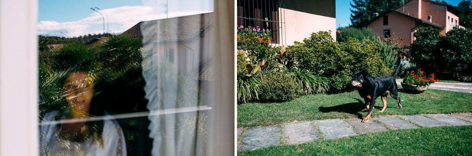 giardino con cane a varese