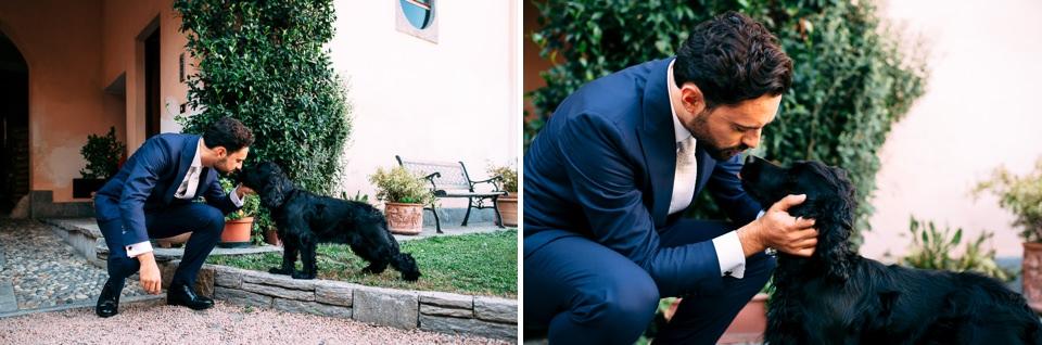 lo sposo e il suo cane